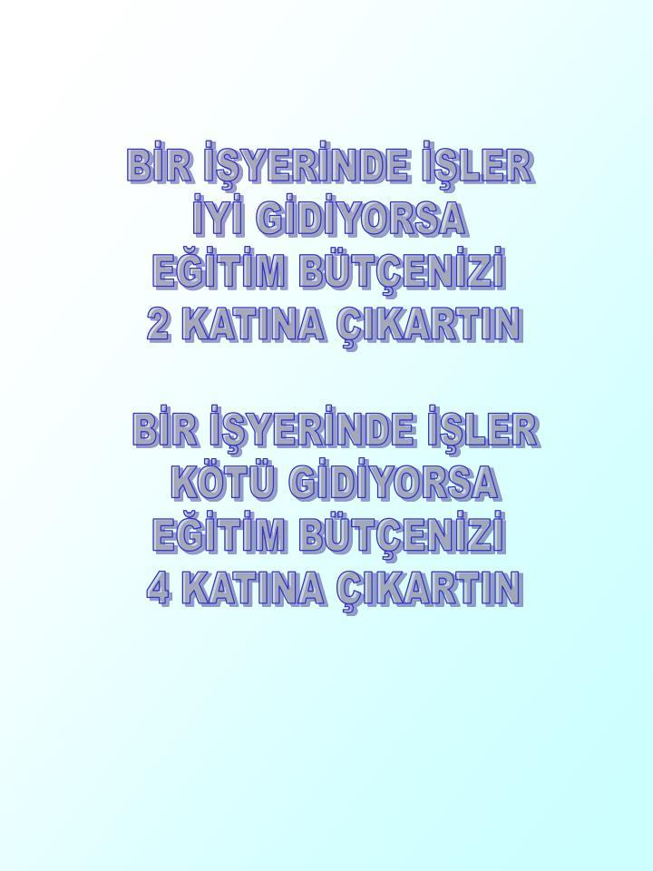 BİR İŞYERİNDE İŞLER