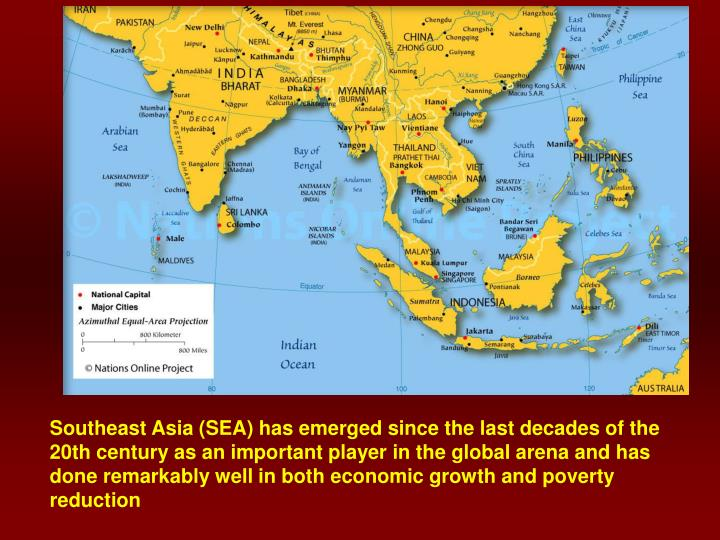Southeast Asia (SEA) has emerged since the last decades of the 20th century as an important player i...