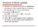 analysis of block update
