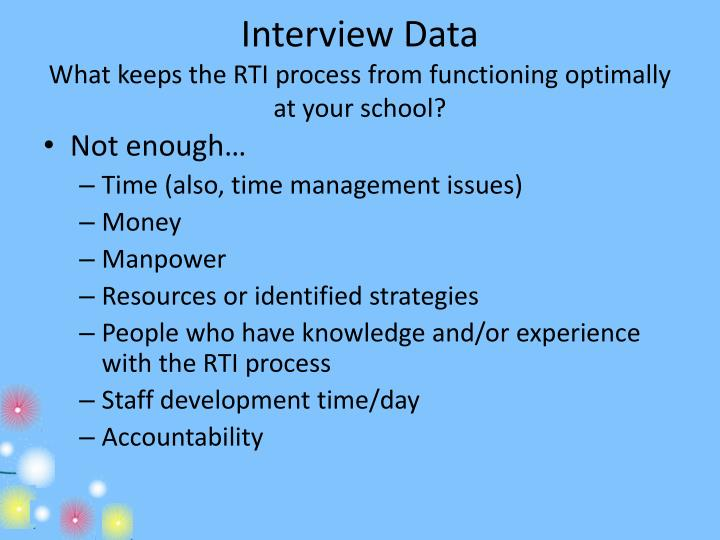 Interview Data