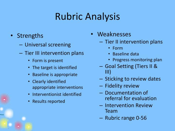 Rubric Analysis