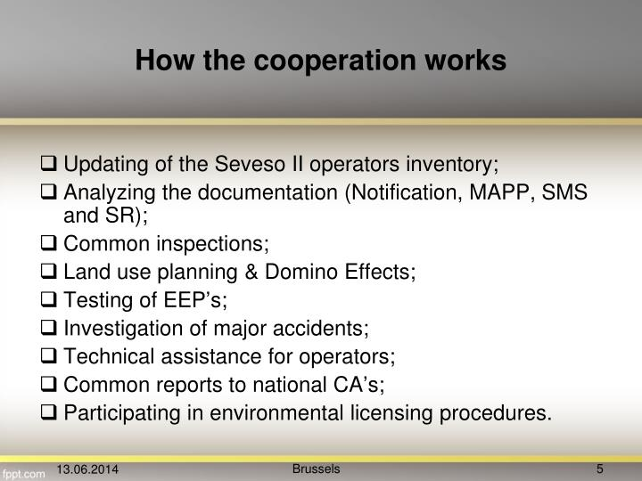 How the cooperation works