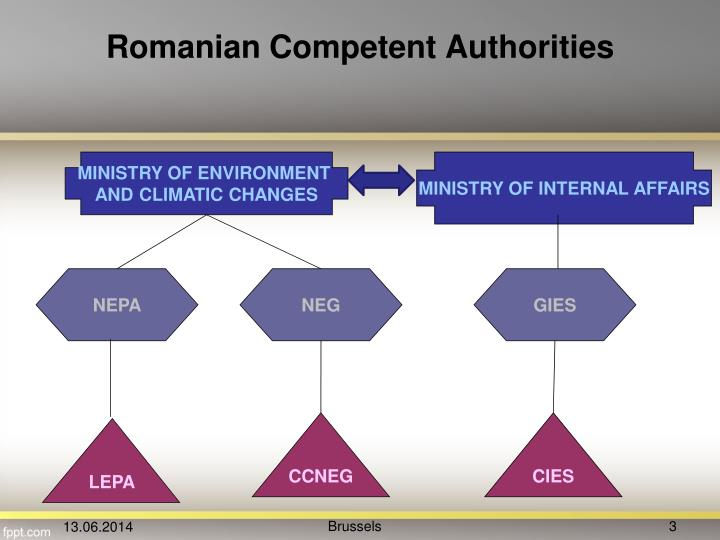 Romanian competent authorities