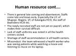 human resource cont