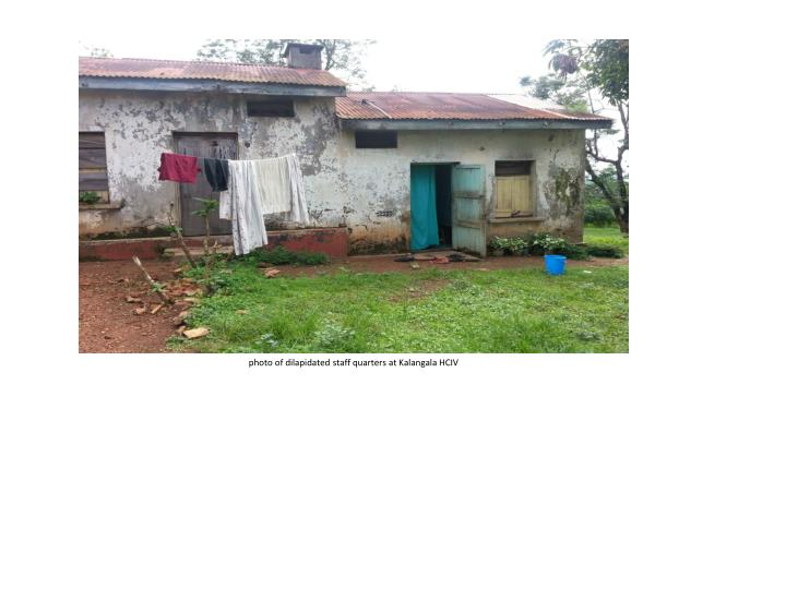 photo of dilapidated staff quarters at