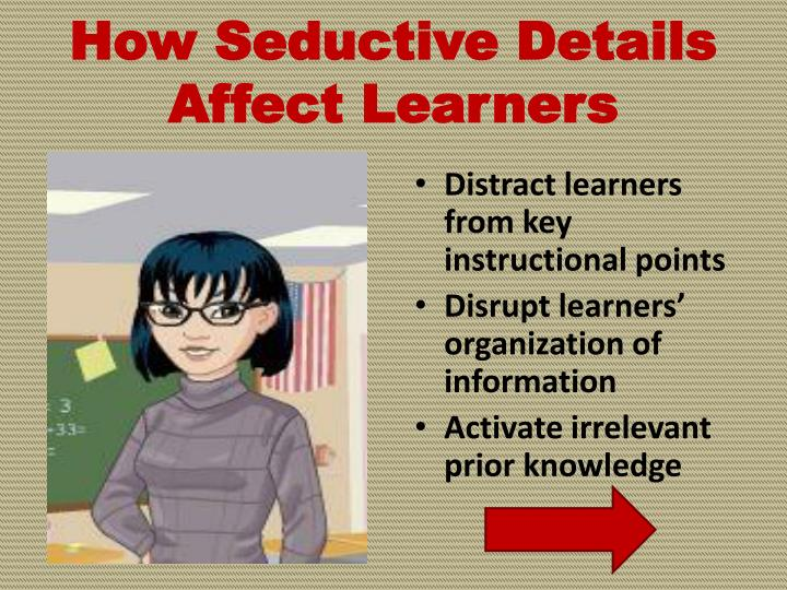How Seductive Details Affect Learners