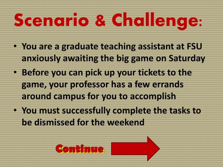Scenario & Challenge: