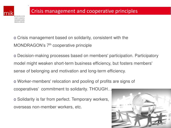 Crisis management and cooperative principles