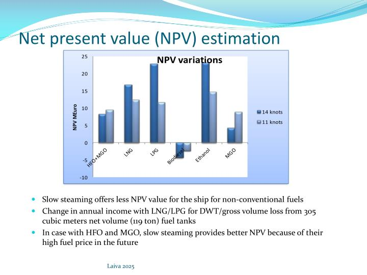 Net present value (NPV) estimation