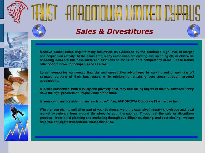 Sales & Divestitures