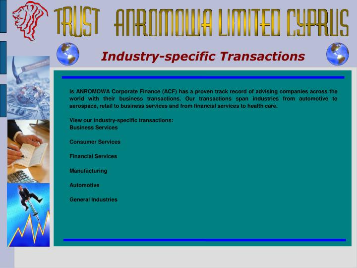 Industry-specific Transactions