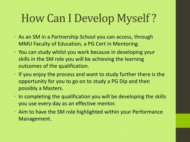 How Can I Develop Myself ?