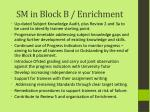 sm in block b enrichment