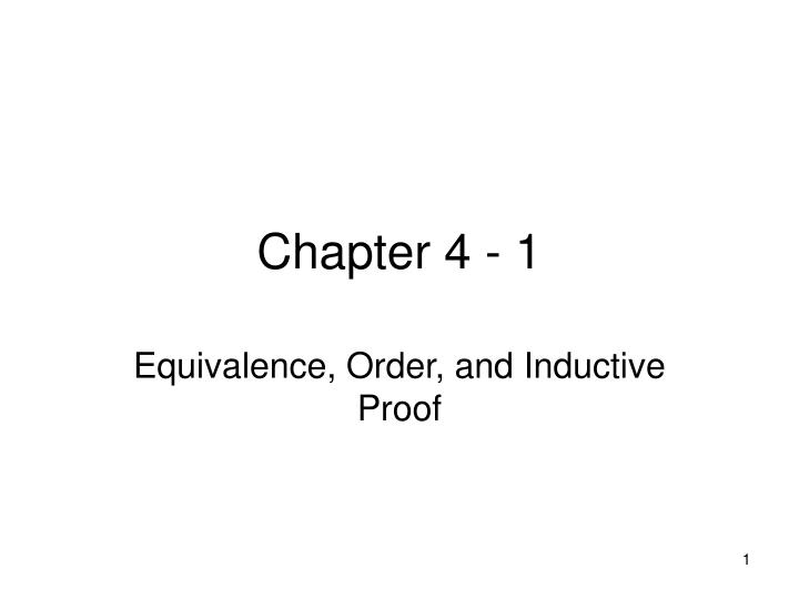 Chapter 4 - 1