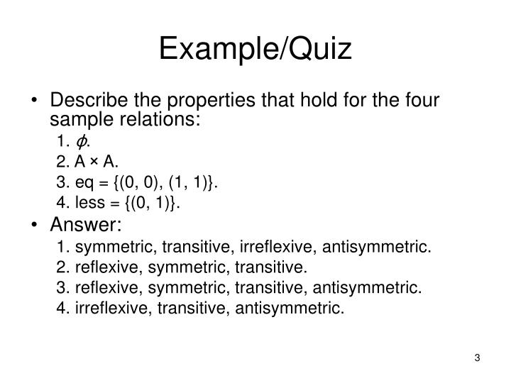 Example/Quiz
