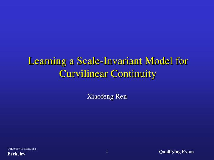 Learning a scale invariant model for curvilinear continuity