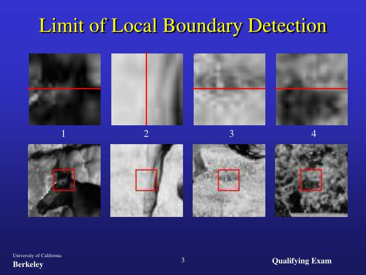 Limit of local boundary detection