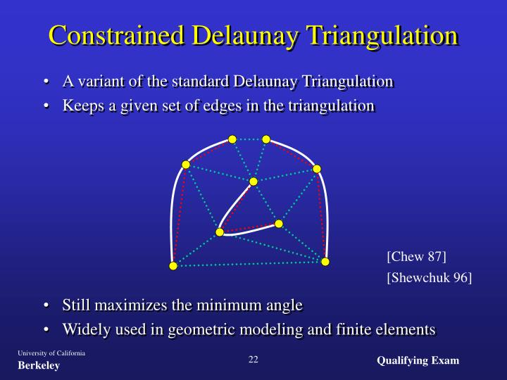 A variant of the standard Delaunay Triangulation