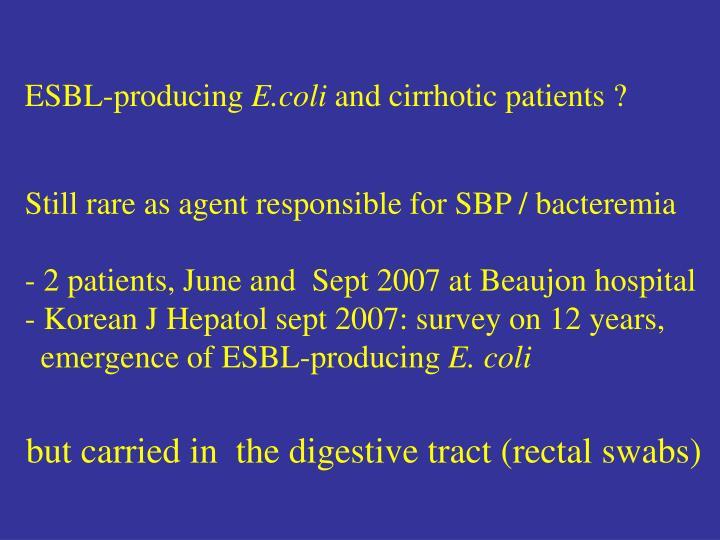 ESBL-producing