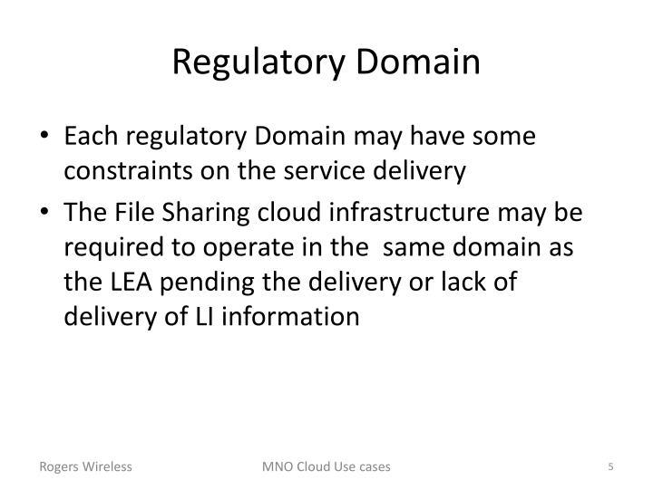 Regulatory Domain