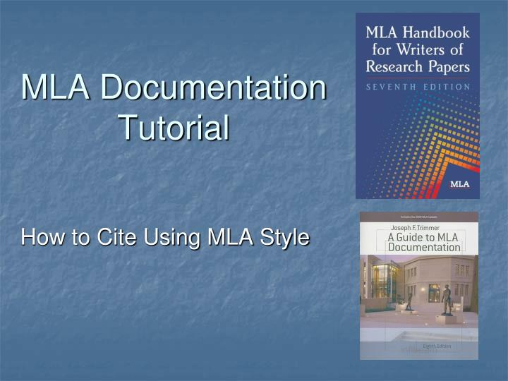 a guide for writing research papers based on mla documentation