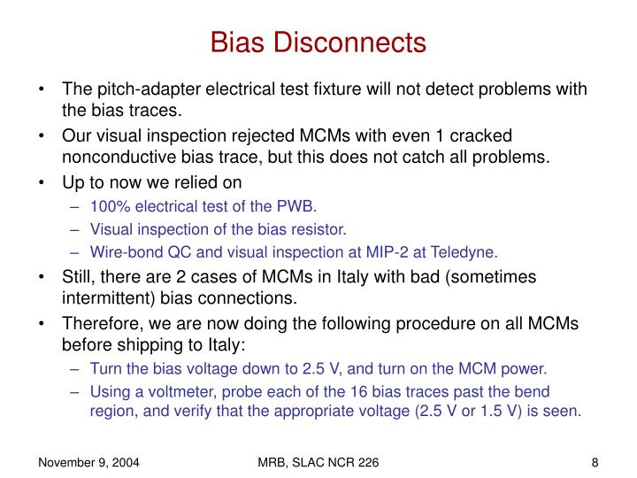 Bias Disconnects