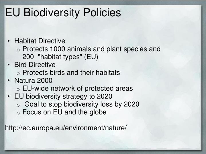 EU Biodiversity Policies
