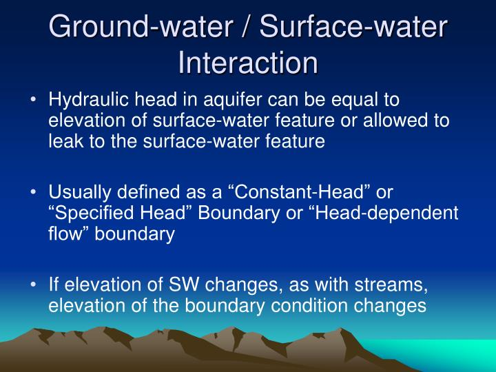 Ground-water / Surface-water Interaction