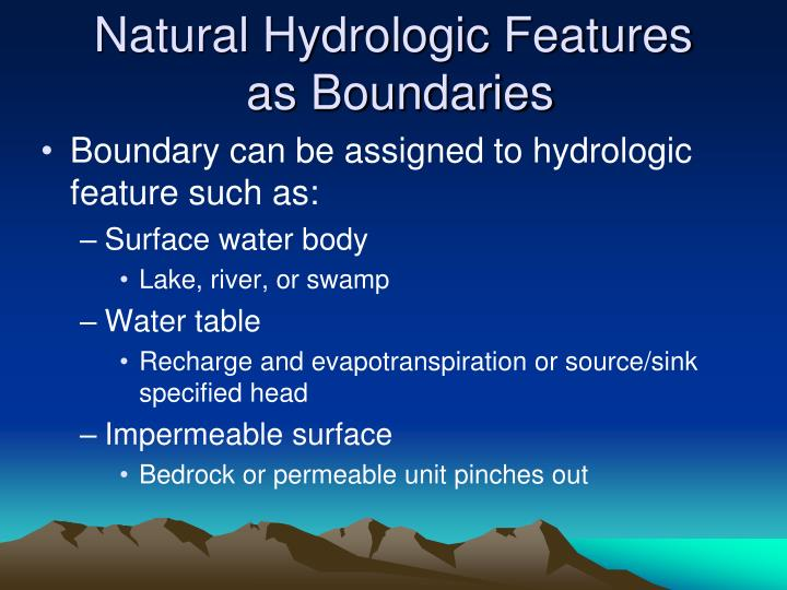 Natural Hydrologic Features