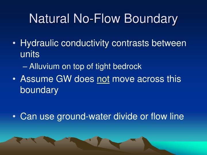 Natural No-Flow Boundary