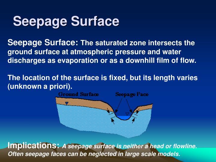 Seepage Surface