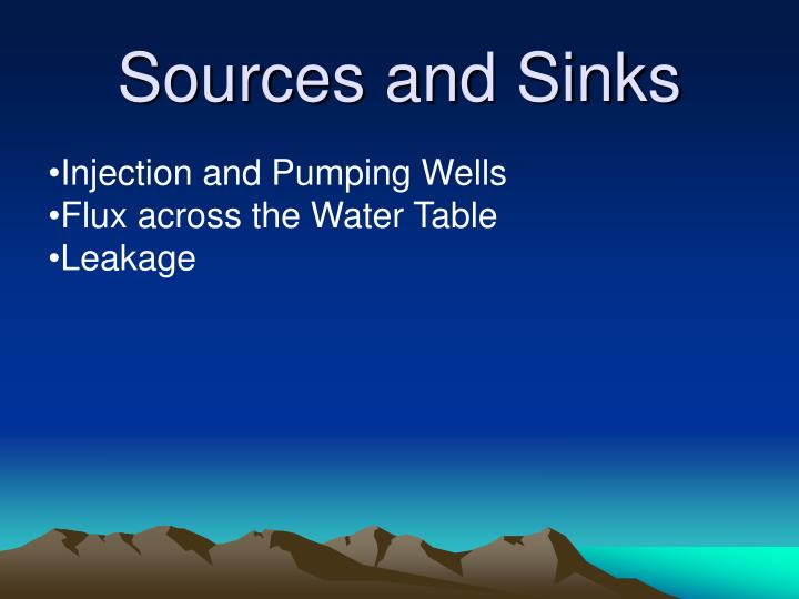 Injection and Pumping Wells