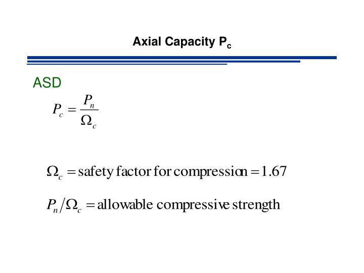 Axial Capacity P