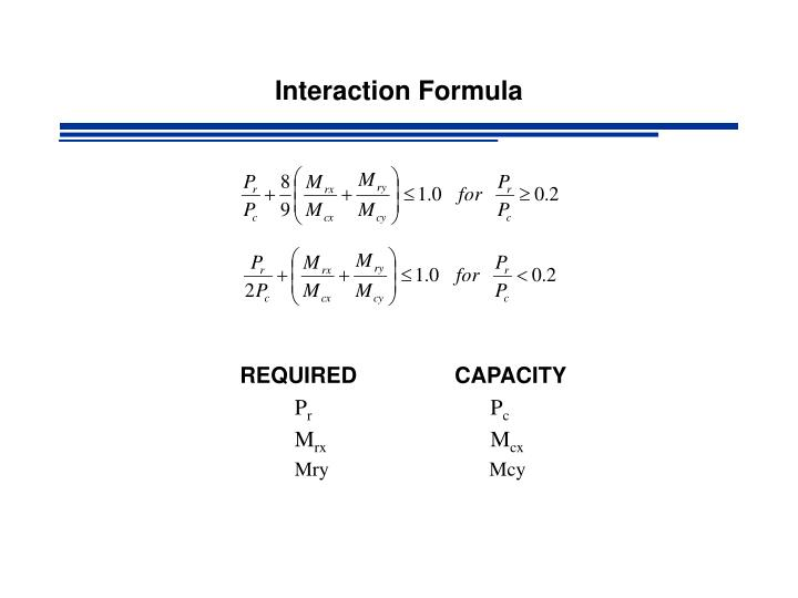 Interaction formula