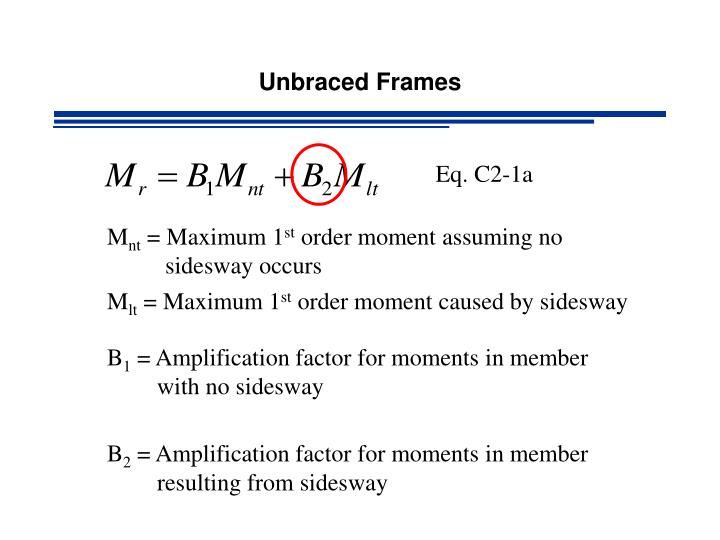 Unbraced Frames