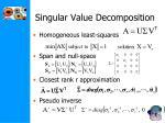singular value decomposition1