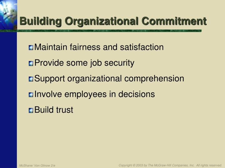 Building Organizational Commitment
