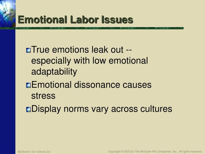 Emotional Labor Issues