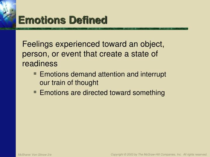 Emotions Defined