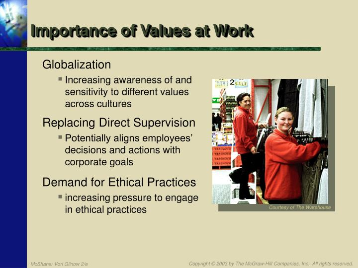 Importance of Values at Work