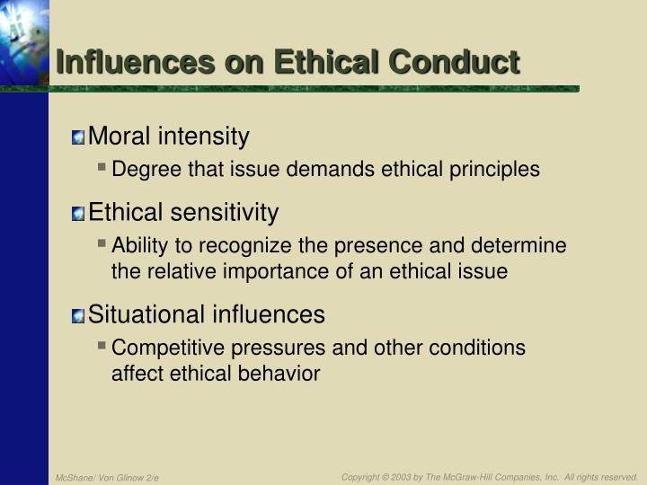 Influences on Ethical Conduct