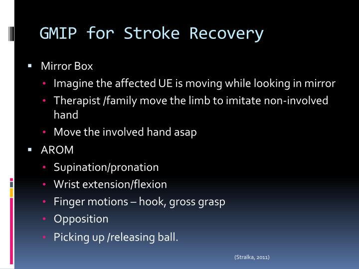 GMIP for Stroke Recovery