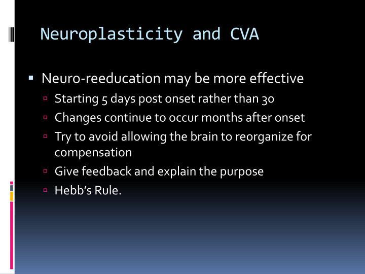 Neuroplasticity and CVA