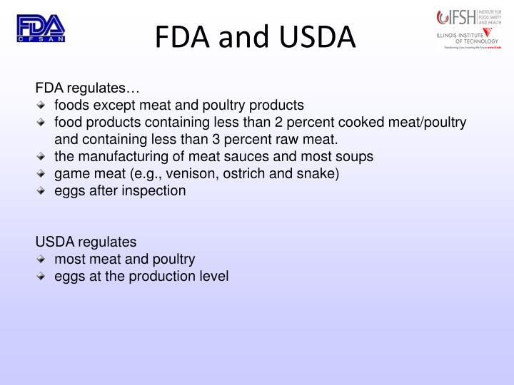 FDA and USDA