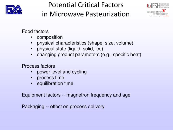 Potential Critical Factors