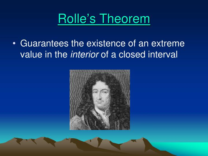 Rolle s theorem