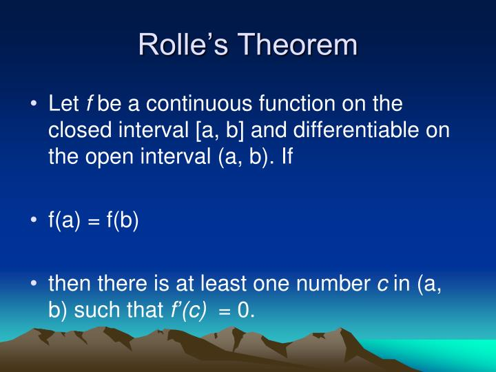 Rolle s theorem1
