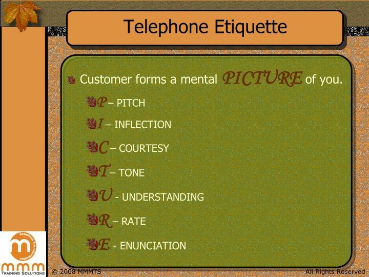 ppt telephone etiquette powerpoint presentation id 6757542. Black Bedroom Furniture Sets. Home Design Ideas