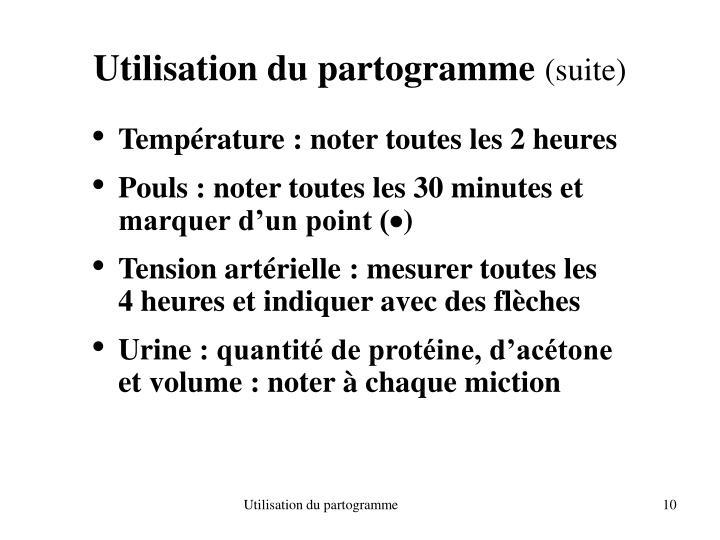 Utilisation du partogramme
