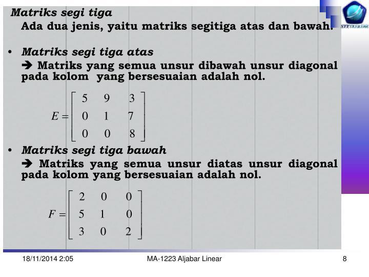 Matriks segi tiga